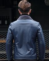 Мужская  кожаная куртка Модель 1048, фото 2
