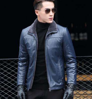 Мужская  кожаная куртка Модель 1048
