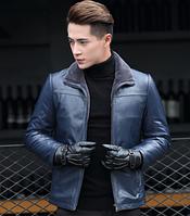 Мужская  кожаная куртка Модель 1048, фото 3