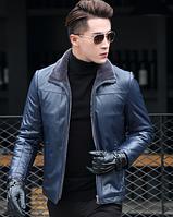 Мужская  кожаная куртка Модель 1048, фото 4