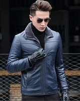 Мужская  кожаная куртка Модель 1048, фото 5