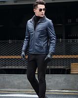 Мужская  кожаная куртка Модель 1048, фото 6