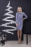 Трикотажное платье с рюшей