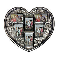 Мультирамка коллаж для фотографий Сердце на 6 фото