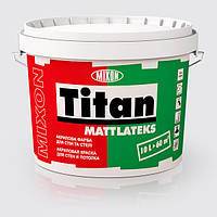 Акриловая краска для стен и потолка Титан МАТЛАТЕКС 10л