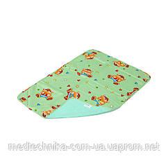 Детская непромокаемая пеленка Classic 65x90, с рисунком, зелёный