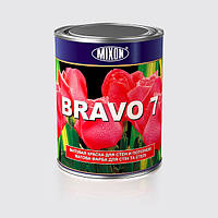 Матовая краска для стен и потолков BRAVO 7 1л
