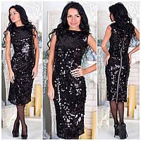 Женское нарядное вечернее платье в пайетку