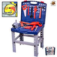 Детский набор инструментов в чемодане, верстак детский
