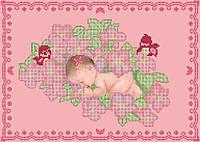 Схема для вышивки бисером Сладких снов,доченька!