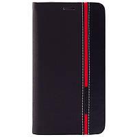 Чехол (книжка) с TPU креплением для Doogee Y100/Y100 Pro (Красный / Черный)