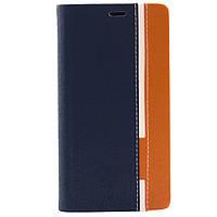 Чехол (книжка) с TPU креплением для Doogee Y300/Y300 Pro (Оранжевый / Синий)