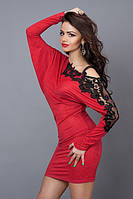 Платье - туника из замшевого трикотажа