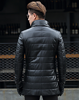 Мужская  кожаная куртка. Модель 1046, фото 2