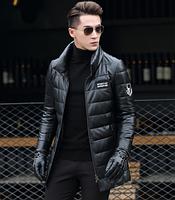 Мужская  кожаная куртка. Модель 1046, фото 3