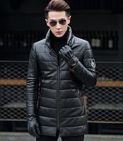 Мужская  кожаная куртка. Модель 1046, фото 1
