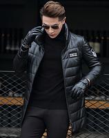 Мужская  кожаная куртка. Модель 1046, фото 5