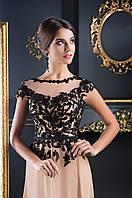 Легкое вечернее платье с удивительно красивым верхом и V-образным вырезом на спине