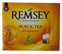 Чай REMSEY Black Tea klasyczna 75 пакетиков