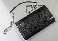 Кожаная женская сумочка-клатч из лаковой кожи