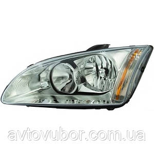 Фара передняя левая без черной рамки Ford Focus 05-08 | 4M5113101AD ALS ELITE