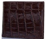 Стильное мужское портмоне из кожи под крокодила GRASS (ГРАСС) SHI324-30