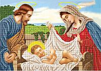 Схема для вышивки бисером Святая семья