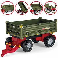 Прицеп 2х осевой Multi Trailer Rolly Toys зеленый
