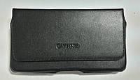 Кожаный чехол на пояс для телефонов с диагональю экрана 5-5,1 дюйма.