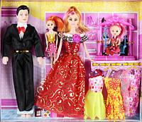 """Кукла типа """"Барби""""Семья"""" 8638-C4 с куколками, качелькой, одеждой"""