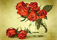 Схема для вышивки бисером Розы в вазе
