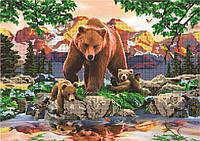 Схема для вышивки бисером Отражение. Медведи