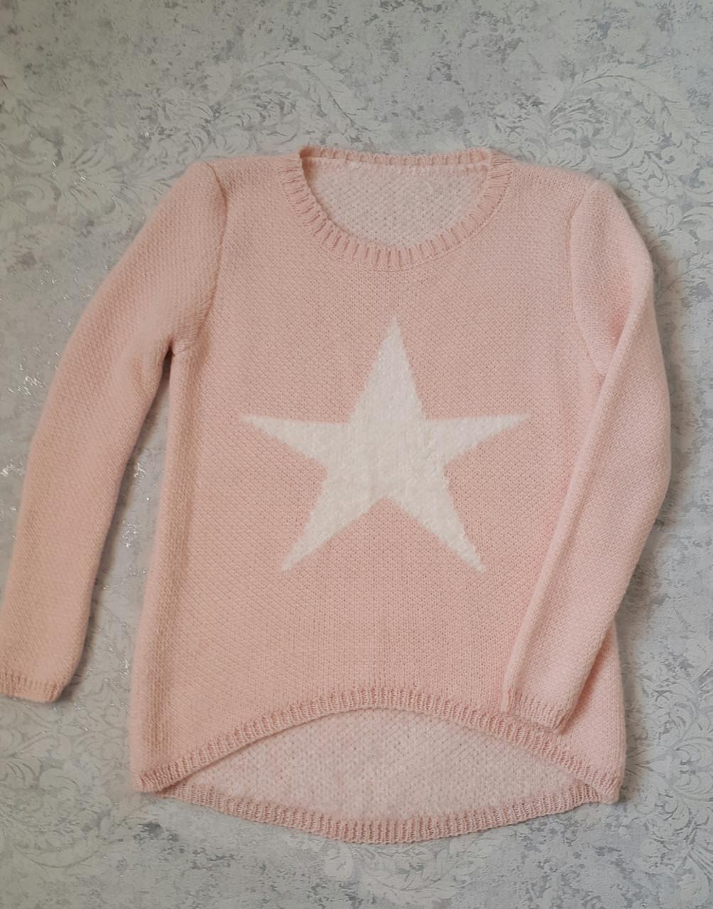Вязаная кофта на девочек Звезда Италия