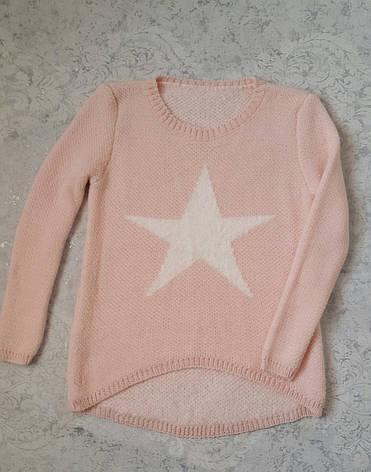 Вязаная кофта на девочек Звезда Италия, фото 2