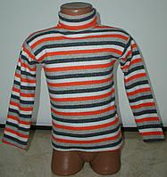Гольфик полоска для девочки с 1до 4 лет оранжевыйс серым