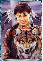 Схема для вышивки бисером Индейский дух