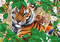 Схема для вышивки бисером Мама тигр и малыш