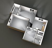 Двухкомнатные квартиры 60.55 кв.м. 9 этаж__40000