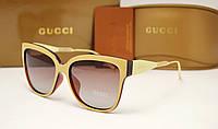 Женские солнцезащитные очки Gucci 62234 цвет бежевый, фото 1