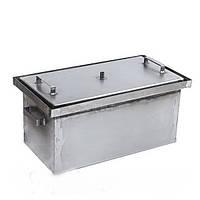 Коптильня с гидрозатвором горячего копчения 550*300*280 мм (внутр. размеры 500*250*250 мм)