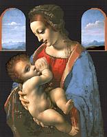 Схема для вышивки бисером Леонардо да Винчи Мадонна с младенцом