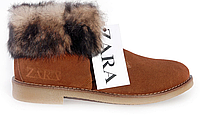 Ботинки женские Zara с отворотом - 14