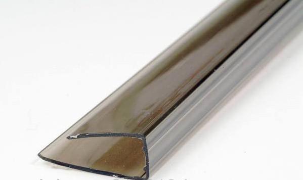 Профиль торцевой Polyarc 16 мм Бронза