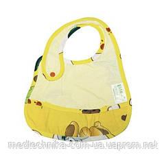 Детский слюнявчик с кармашком Экопупс Premium, 21x30, желтый