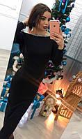 Женское стильное платье с открытой спиной и ручной вышивкой (2 цвета)