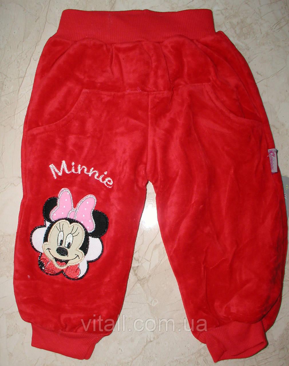 Велюровые штанишки на травке от 6 месяцев до 2лет красные