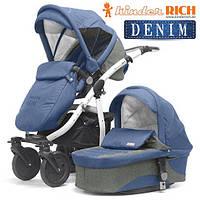 Универсальная коляска 2 в 1 Kinder Rich Fox Flax Denim