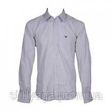 Рубаха белая с длинным рукавом в полоску siim fit