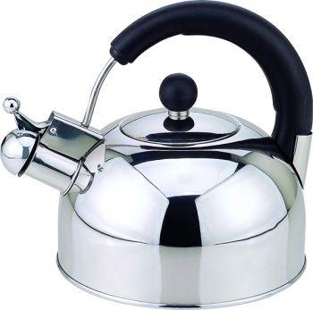 Чайник со свистком 2,5л Con Brio СВ-402 - глянцевый
