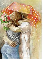 Схема для вышивки бисером Осенний роман под зонтом